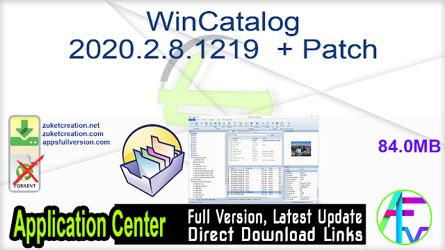 WinCatalog 2020.2.8.1219  + Patch