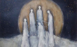 The Weavers, a painting by Jeanie Tomanek
