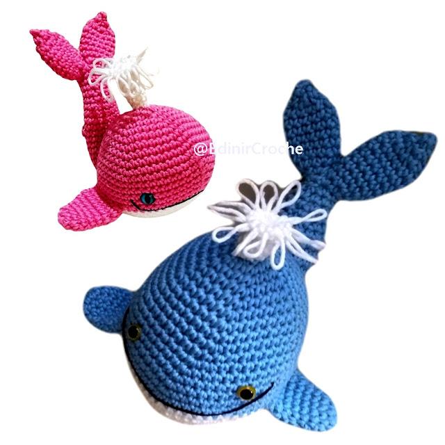 Quero comprar amigurumi Baleia em croche com Edinir Croche