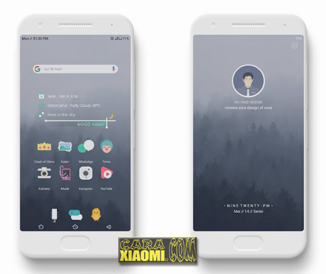 Download Tema Xiaomi West Minime Alice Mtz For MIUI V Tema MIUI West Minime Alice Mtz For Xiaomi Redmi Terbaru by Rieff