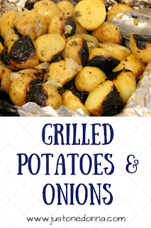 Grilled Potatoes and Onions in Foil.