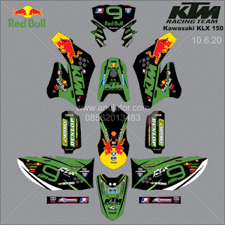 Sticker striping motor stiker Kawasaki KLX 150 9
