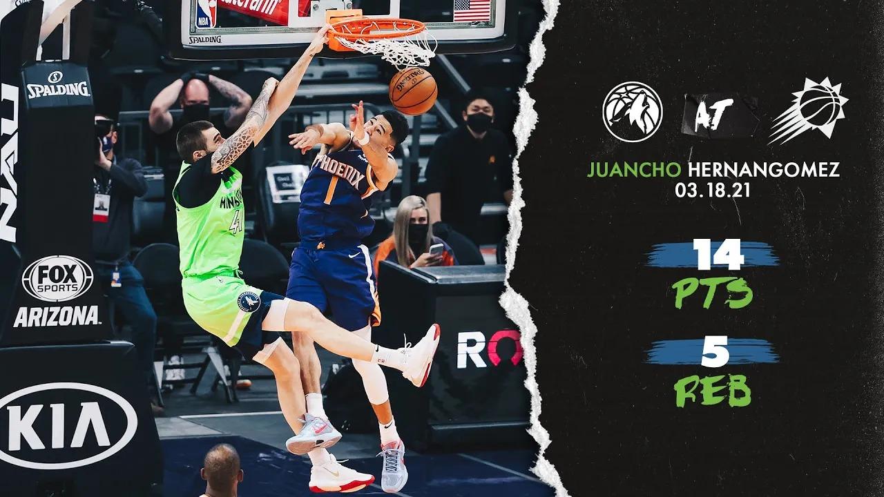 Juan Hernangomez 14pts 5reb vs PHO | March 18, 2021 | 2020-21 NBA Season