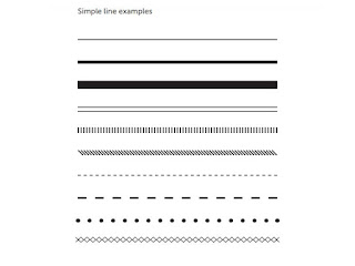 the type elements of line, simple line examples