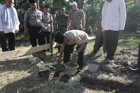 Peletakan Batu Pertama Perluasan Mesjid Subulussalam oleh Bupati Asahan