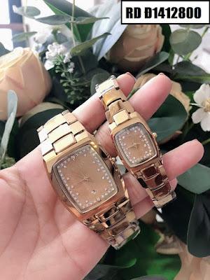 Đồng hồ cặp đôi Rado mặt vuông RD Đ1412800