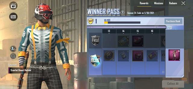 PUBG Mobile Lite WP Season 24 out check 1 to 30 rewards