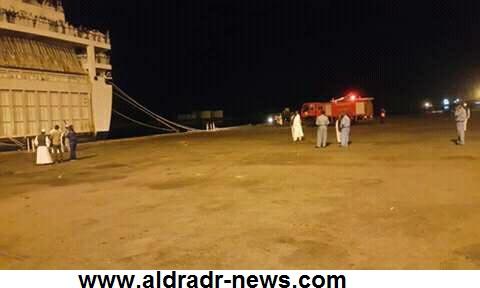 احتراق الباخره السودانية ،نما، ببورتسودان واعاده الركاب عبر قوارب النجاه