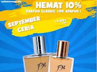 Promo September Ceria Diskon 10% Parfum Classic Collection 1-2 September 2017
