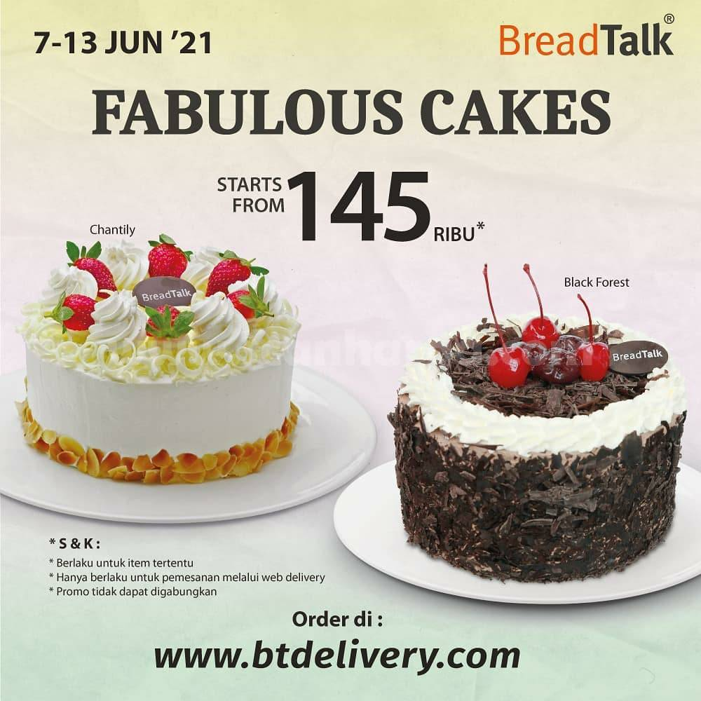 Breadtalk Promo Fabulous Cake – Whole Cakes Favorit mulai Rp 145.000