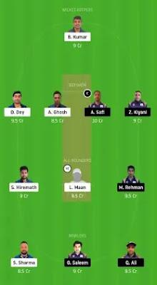 SIG vs IND Dream11 team prediction