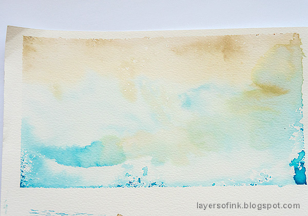 Layers of ink - Textured Snowflake Card Tutorial by Anna-Karin Evaldsson.