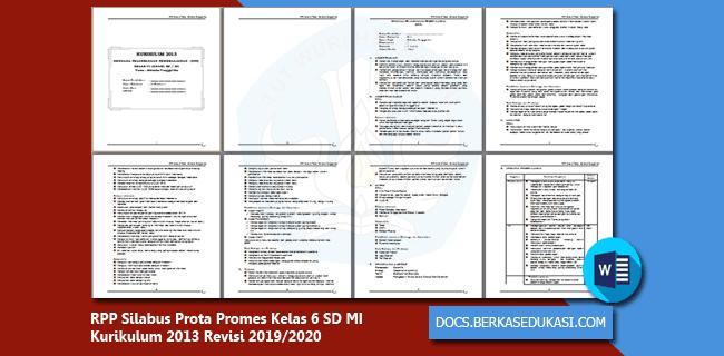 RPP Silabus Prota Promes Kelas 6 SD MI Kurikulum 2013 Revisi 2019-2020