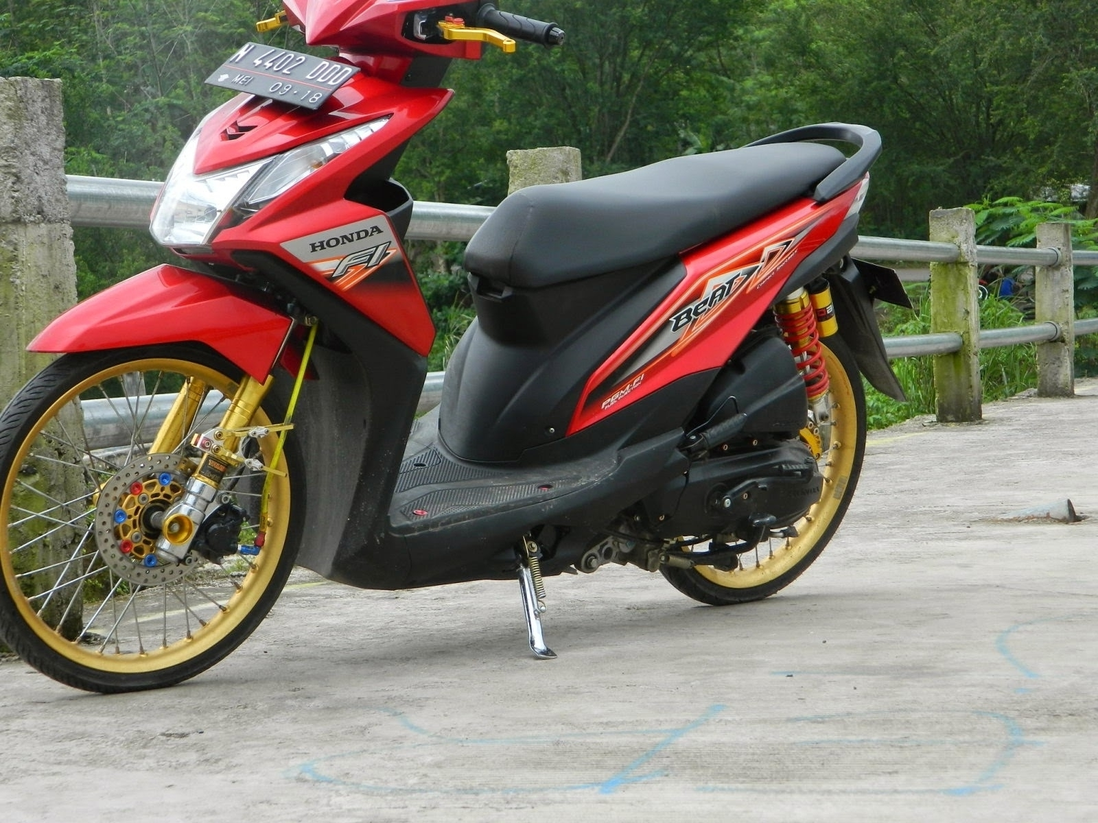 Ide 56 Modifikasi Honda Beat Orange Terunik Ketoprak Motor