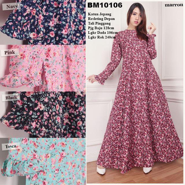 Bursa Grosir Busana Muslim Tanah Abang Bm10106 Long Dress