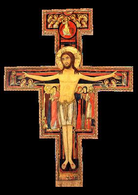 Cruz de São Damião - Ícones para grupo de oração, seminário de vida no Espírito Santo e eventos