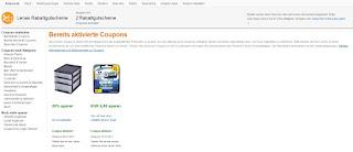 bereits aktivierte Coupons: Coupons Rabatt Gutscheine von Amazon