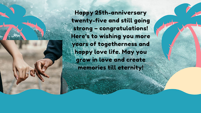 25th anniversary wishes for sister and brother in law