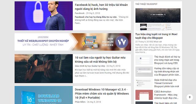 Cách chèn quảng cáo vào bên dưới bài viết đầu tiên ngoài trang chủ cho Blogspot