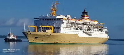 Tampak KM. Leuser salah satu armada Pelayaran Milik PT Pelni