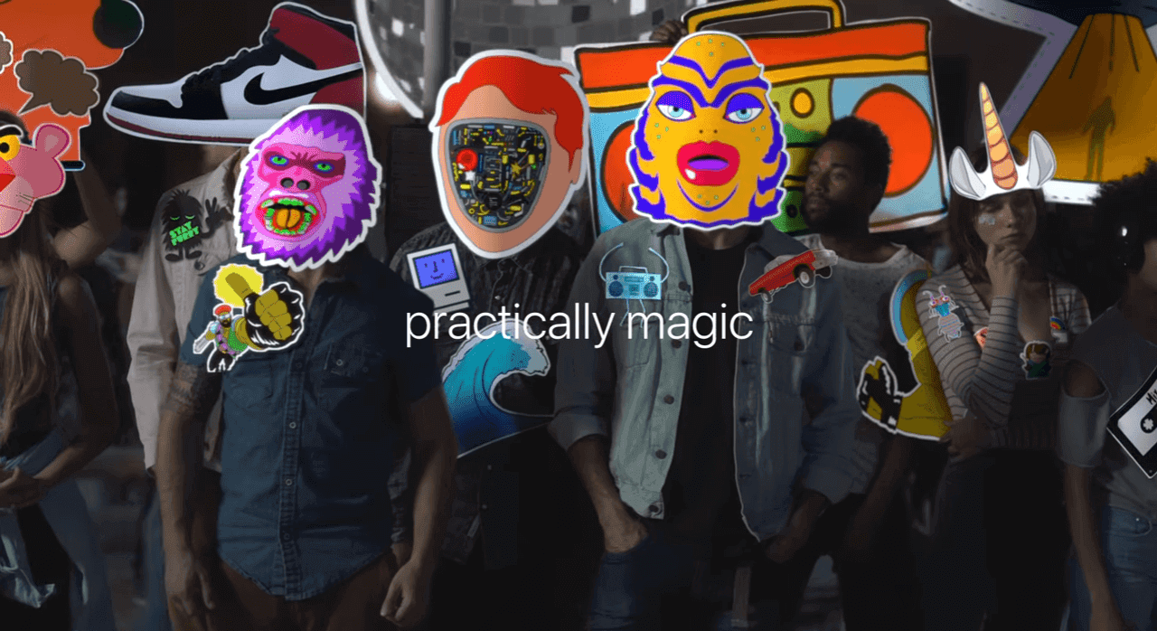 "Apple iPhone 7 ""Practically Magic"" Guerra de Stickers"