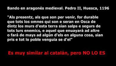 Texto en ocsitá, Pedro II, Osca, Huesca, 1196, NO existíe Cathalunya :