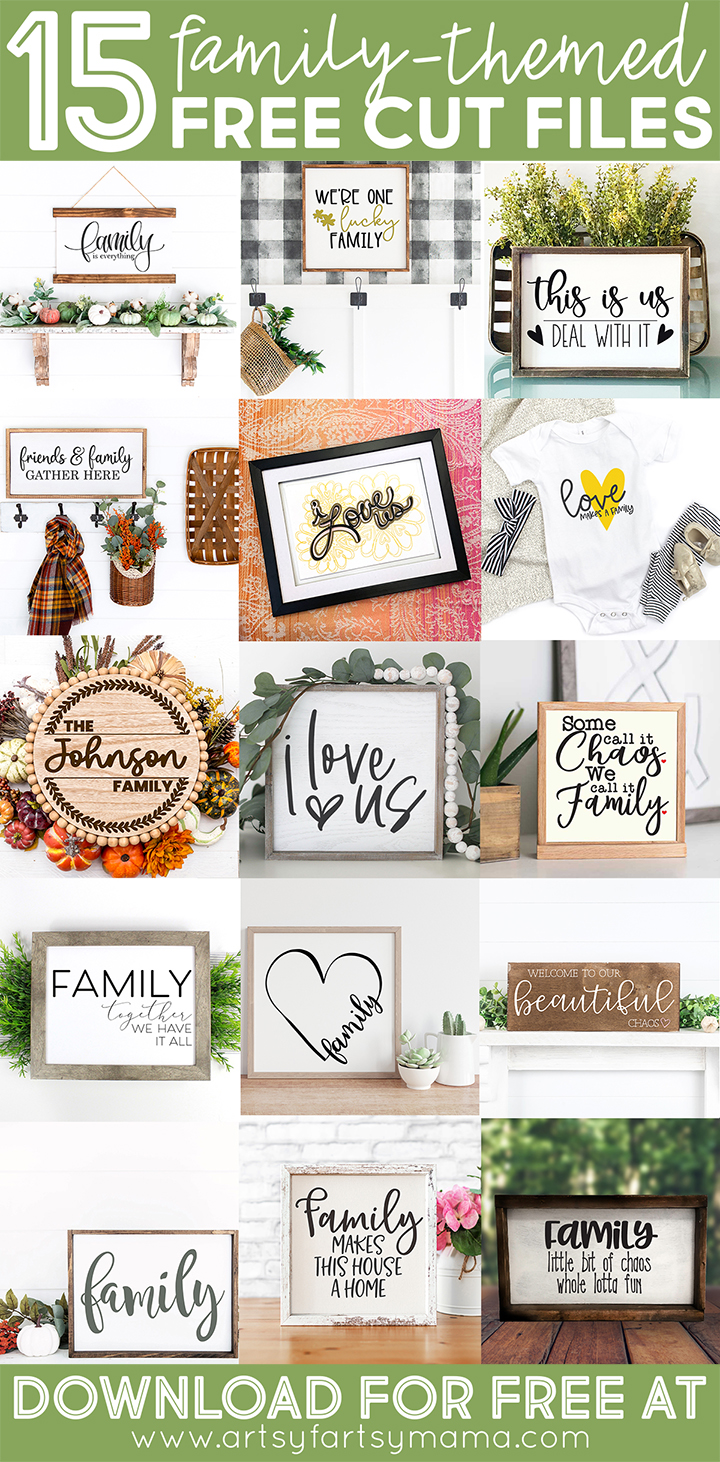 15 Free Family-Themed Cut Files