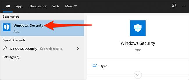 الوصول إلى أمن Windows