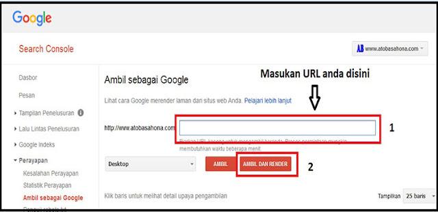 Ping (Mengirim) Link Ke Google