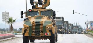 تضمنت نحو 100 مركبة..تعزيزات عسكرية كبيرة للجيش التركي في طريقها إلى الحدود مع سوريا (فيديو)