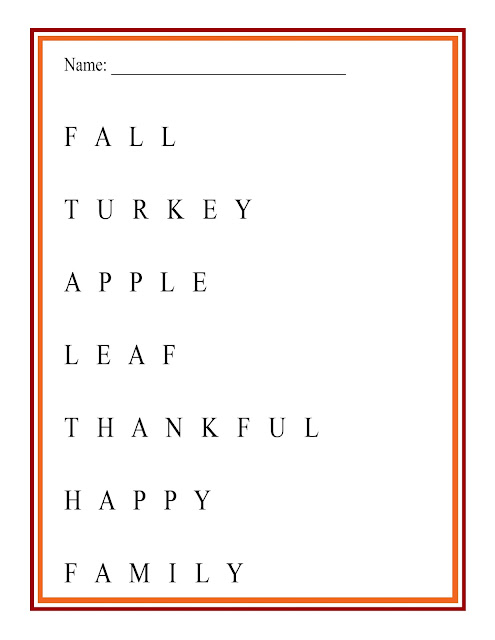 Fall Word Matching Game | a great kids activity, perfect for the fall and for Thanksgiving day | free printable | #kidsactivity #freeprintable #alphabits #sponsored