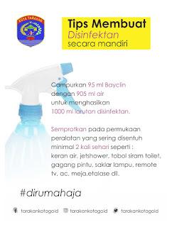 Tips Membuat Disinfektan Secara Mandiri - Tarakan Info