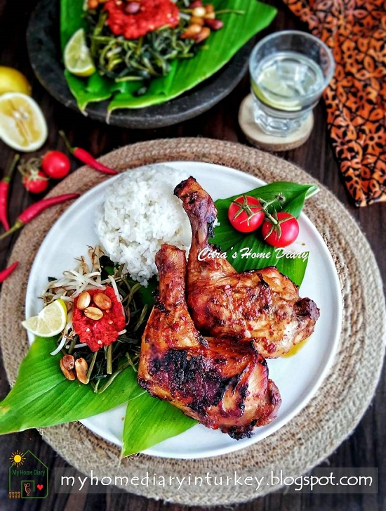AYAM BAKAR TALIWANG / INDONESIAN SPICY GRILLED CHICKEN FROM LOMBOK   Çitra's Home Diary. #Indonesiancuisines #indonesisch #plecingkangkung #waterspinach #chickenrecipe #asianfoodrecipe #foodphotography #Indonesianfoodrecipe #endonezyamutfağı #ayambakar