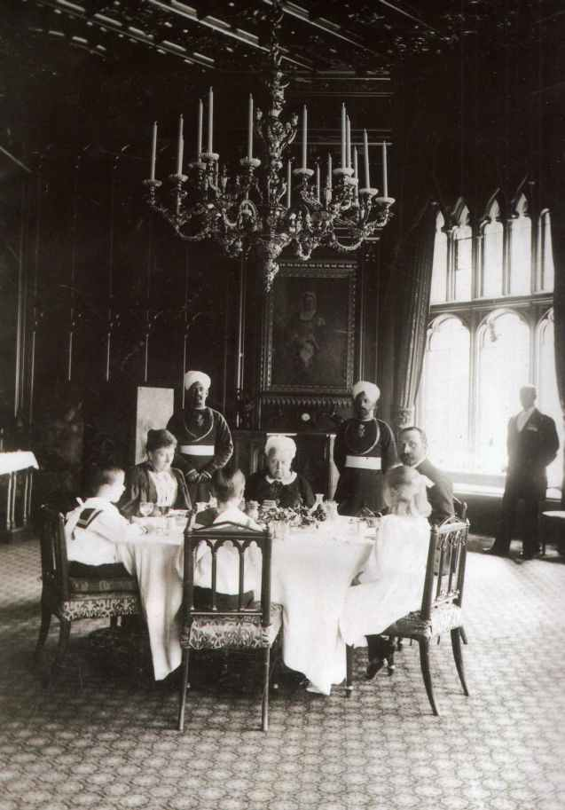 Queen Victoria taking tea