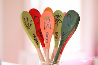 Make your own garden markers with wooden spoons