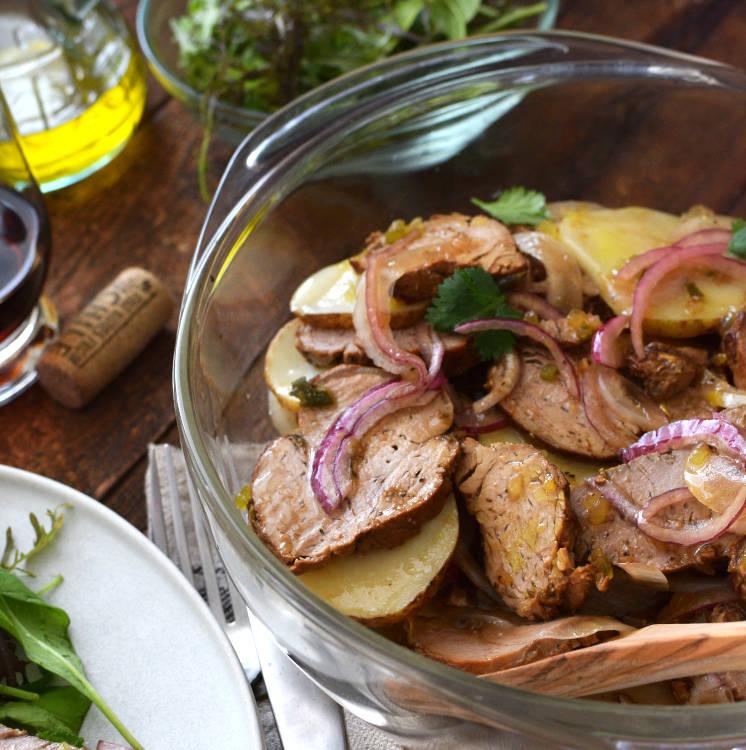 Receta para preparar carne fría en vinagreta