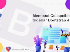 Membuat Collapsible Sidebar Bootstrap 4