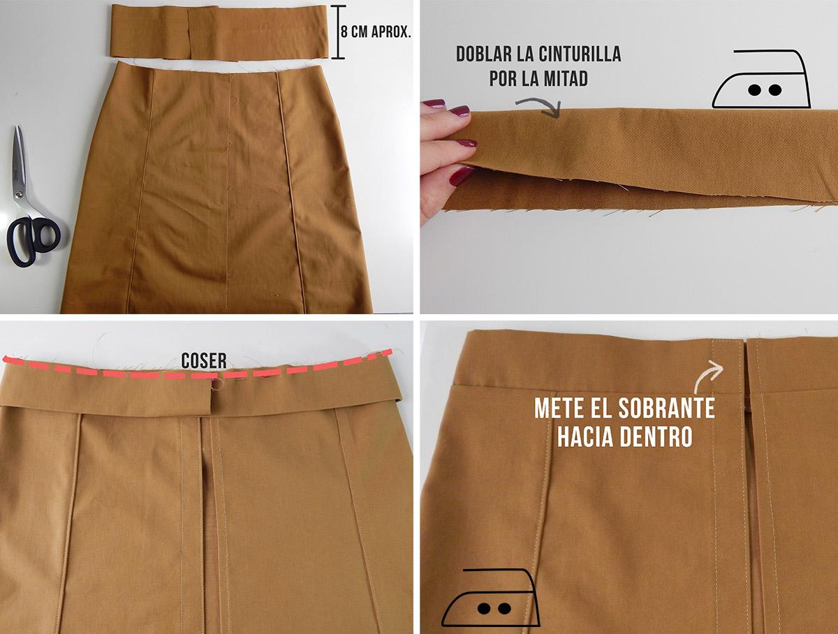 401c451c2 miscelánea diy: DIY | Cómo hacer una falda con botones delanteros