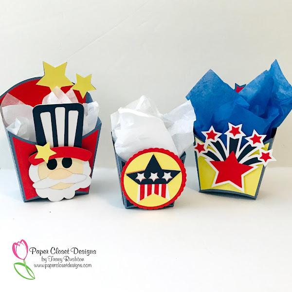 Patriotic Fry Boxes