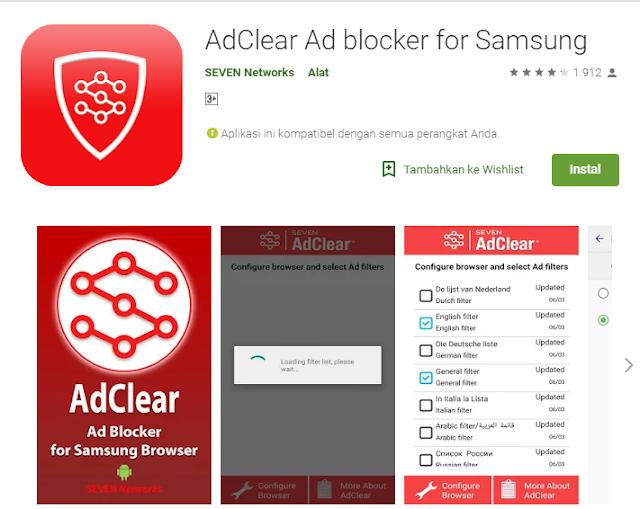Cara menghilangkan iklan menggunakan Adclear