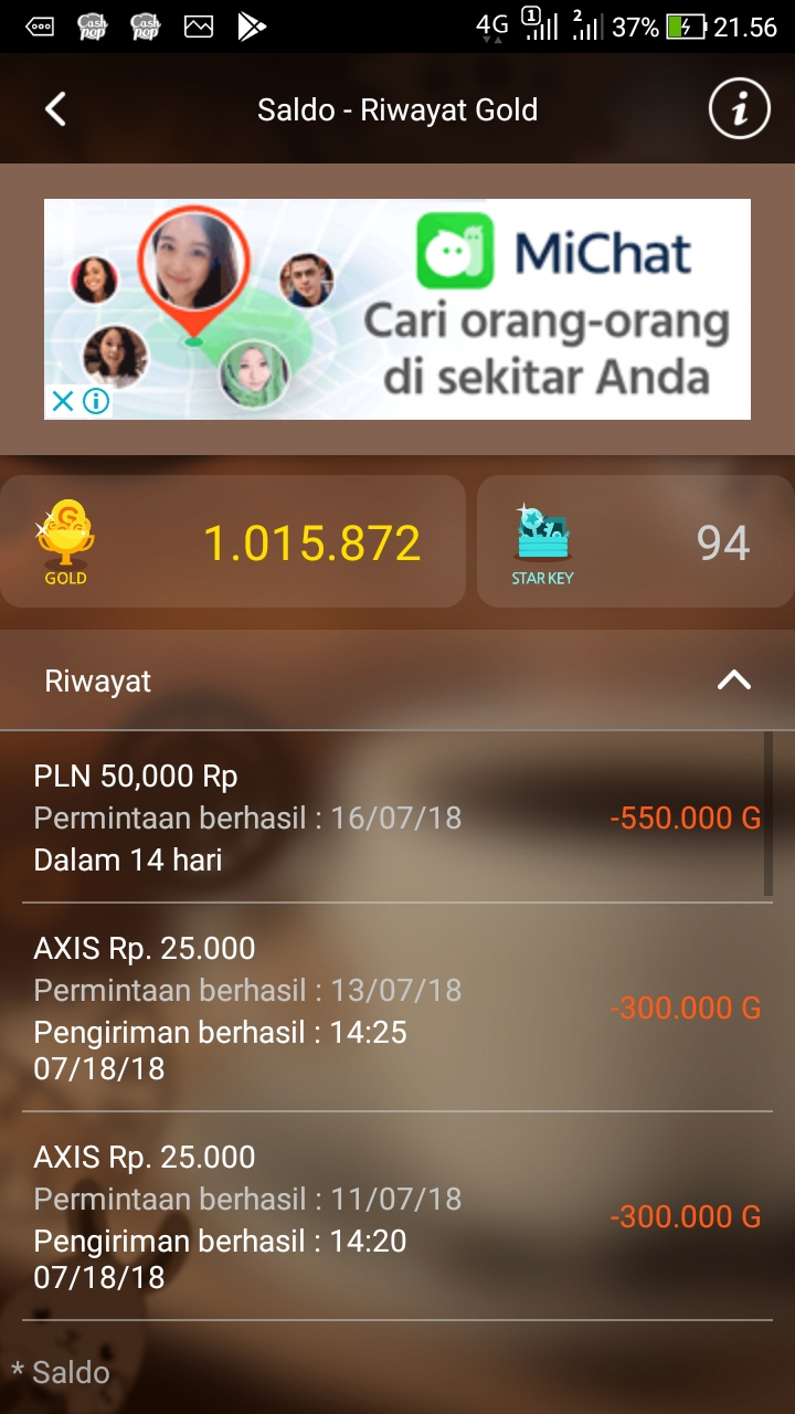 Trik jitu curang hack cashpop dapatkan 1.000.000 gold gratis terbaru 2018 | HACK PULSA GRATIS