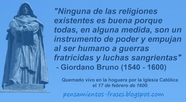 frases de Giordano Bruno