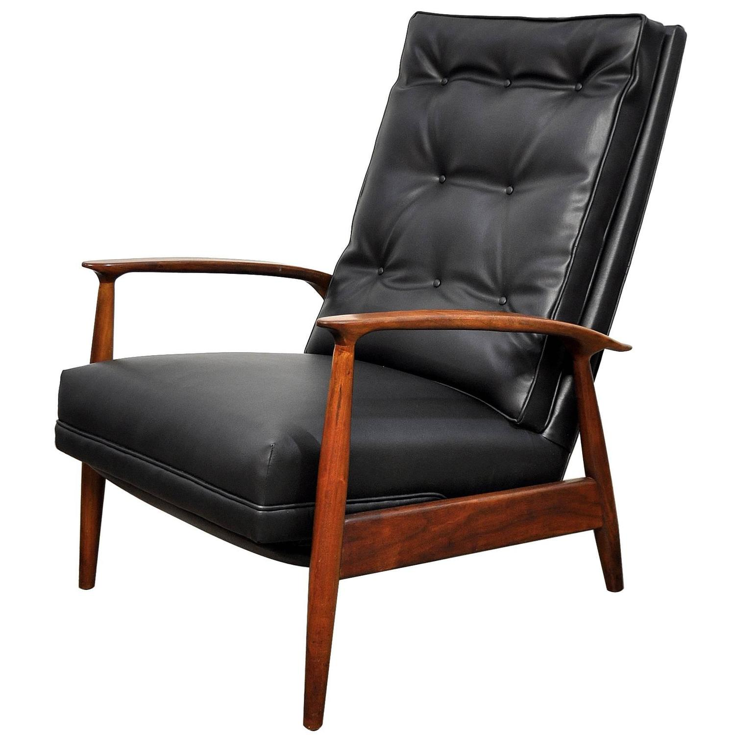 milo baughman chair modern high back wing select for james inc recliner