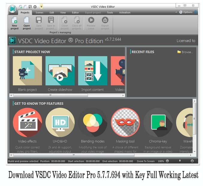 vsdc video editor pro 5.7.7.694 + crack