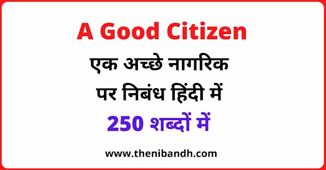A Good Citizens text image in hindi
