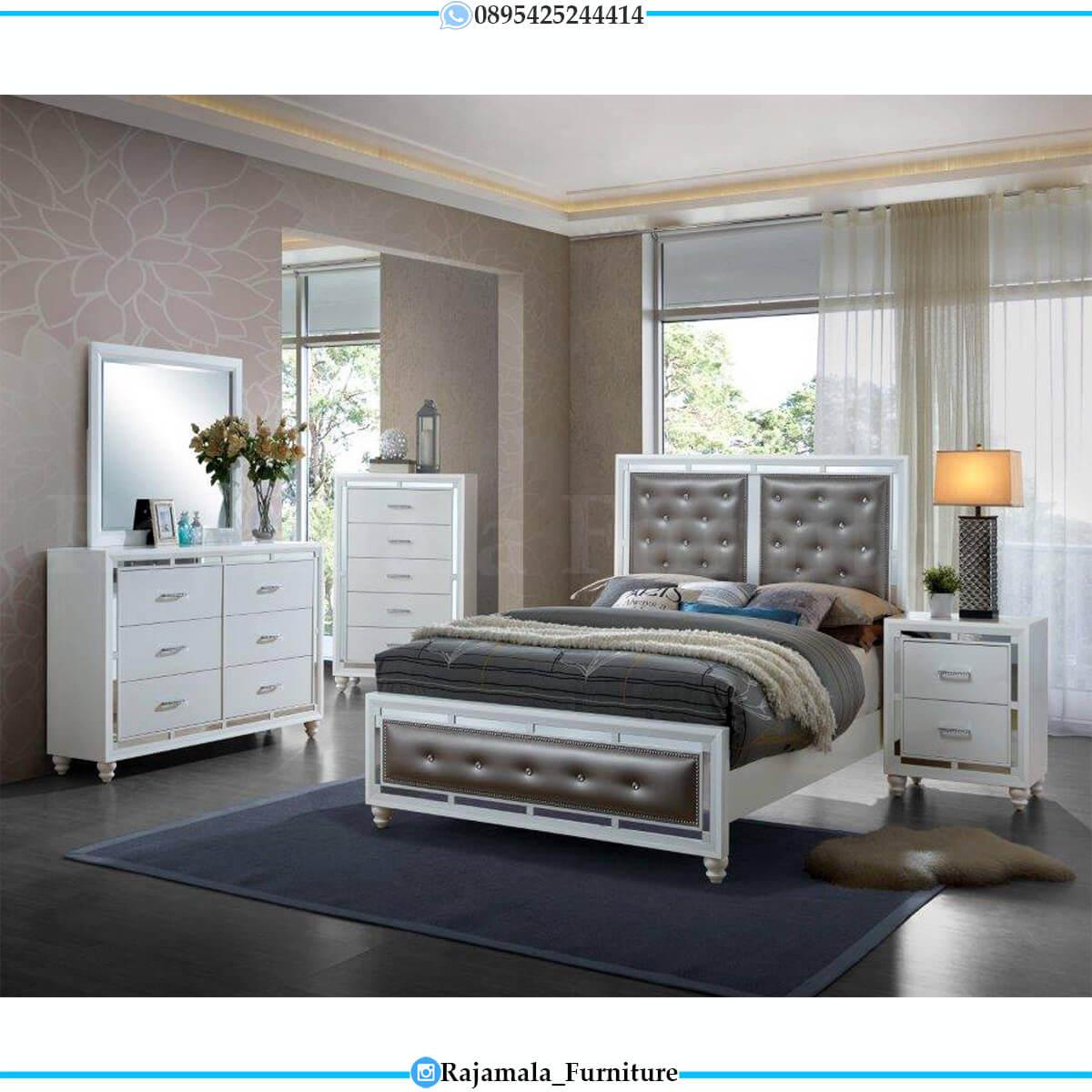 Jual Tempat Tidur Minimalis Putih Duco Classic Luxury RM-0686