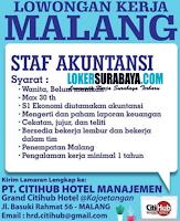 Bursa Kerja Malang di PT. Citihub Hotel Manajemen Agustus 2020
