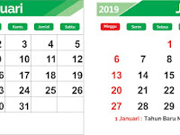 Kalender 2019 Gratis Editable File CDR Format Lengkap