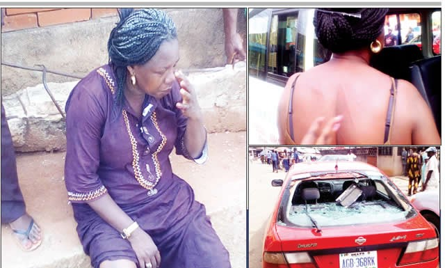 Nigeria Airforce Officer brutailly Assualt Woman in Benin City, edo state Damages her Car