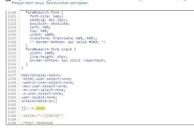 Kode Anti copy Artikel Body Halaman blogger